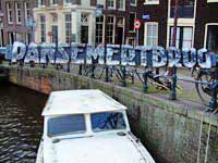 Parsemert bridge, the Egelantiersgracht and the Prinsengracht in amsterdam
