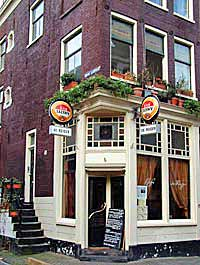 brown cafe de Reiger (the Heron) at the corner of the Nieuwe Leliestraat in Amsterdam