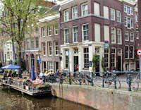 Brown Cafe 't Smalle at Egelantiersgracht in the Jordaan in amsterdam