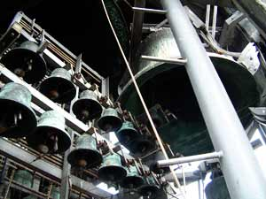 Concerts on the carillon of Westertoren, Western Tower in amsterdam, are ones a week on tuesdays noon.