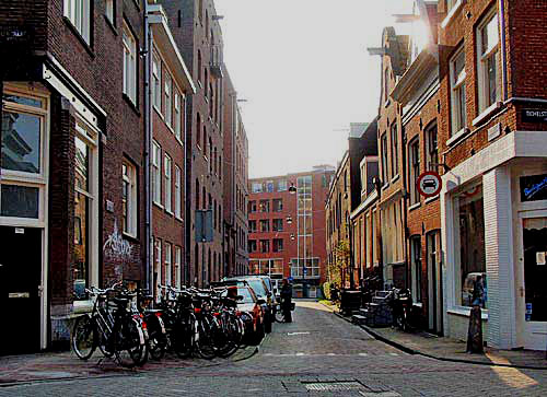 Gieterstraat, street in the Jordaan in Amsterdam, The Netherlands