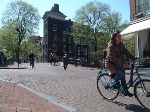 explore the canals like Prinsengracht by bike or have a nice city walk in Amsterdam